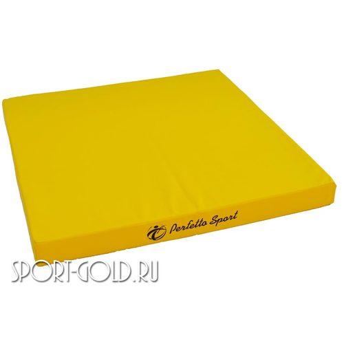 Спортивный мат Perfetto Sport №2, 100х100х10 см, нескладной Желтый
