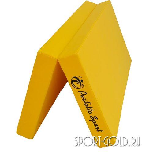 Спортивный мат Perfetto Sport №3, 100х100х10 см, 1 сложение Желтый