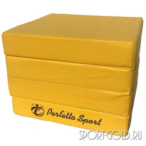 Спортивный мат Perfetto Sport №11, 100х100х10 см, 4 сложения Желтый