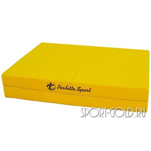 Спортивный мат Perfetto Sport №10, 150х100х10 см, 1 сложение Желтый