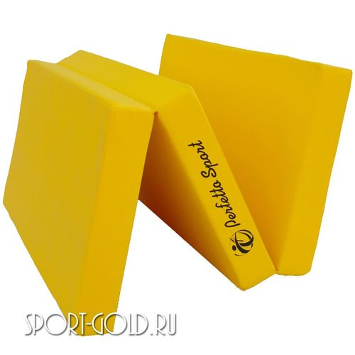 Спортивный мат Perfetto Sport №4, 150х100х10 см, 2 сложения Желтый