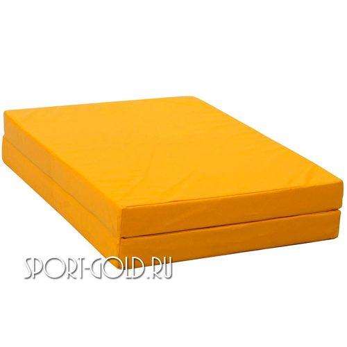 Спортивный мат АССОРТИ №10, 150х100х10 см, складной, 2 секции Желтый