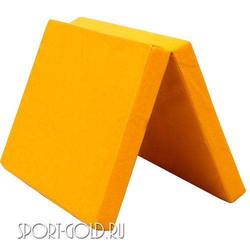 Спортивный мат АССОРТИ №8, 200х100х10 см, складной, 2 секции Желтый