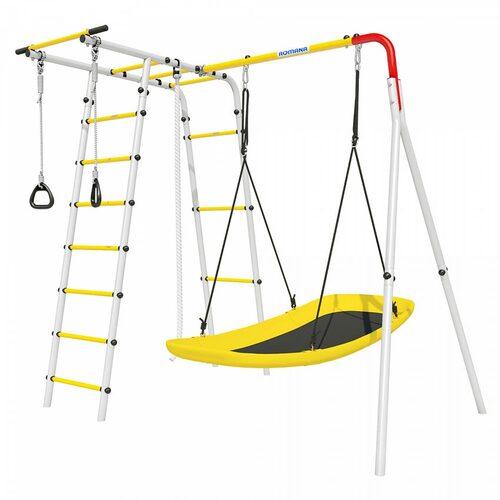 Детский спортивный комплекс для дачи ROMANA Лесная поляна-2 Качели пластик+доп.