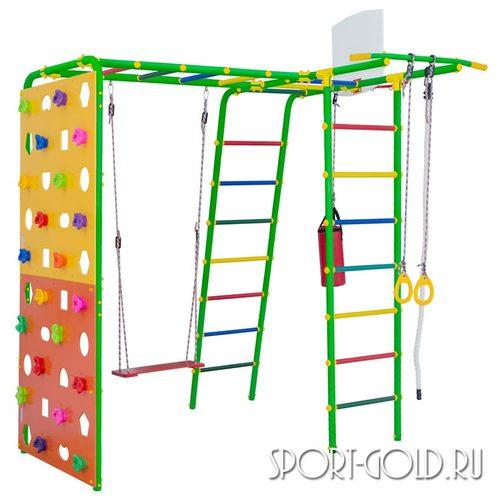 Детский спортивный комплекс для дачи ФОРМУЛА ЗДОРОВЬЯ Street 2 Smile Зеленый