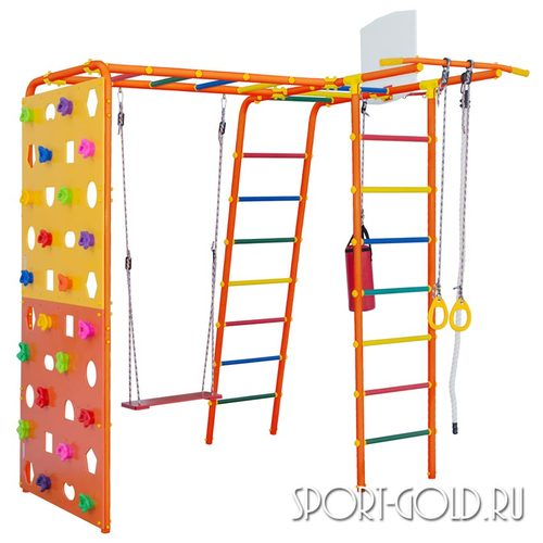 Детский спортивный комплекс для дачи ФОРМУЛА ЗДОРОВЬЯ Street 2 Smile Оранжевый