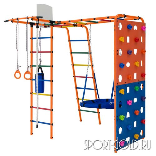 Детский спортивный комплекс для дачи ФОРМУЛА ЗДОРОВЬЯ Street 2 Оранжевый
