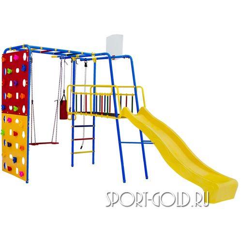Детский спортивный комплекс для дачи ФОРМУЛА ЗДОРОВЬЯ Street 3 Smile Синий