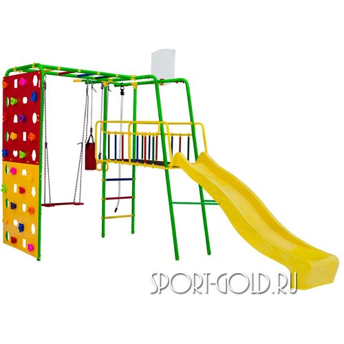 Детский спортивный комплекс для дачи ФОРМУЛА ЗДОРОВЬЯ Street 3 Smile Зеленый