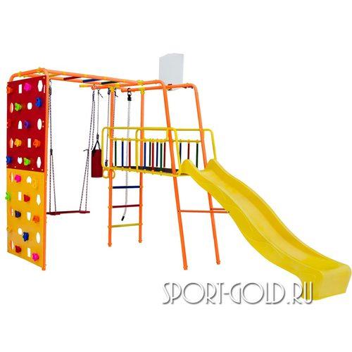 Детский спортивный комплекс для дачи ФОРМУЛА ЗДОРОВЬЯ Street 3 Smile Оранжевый