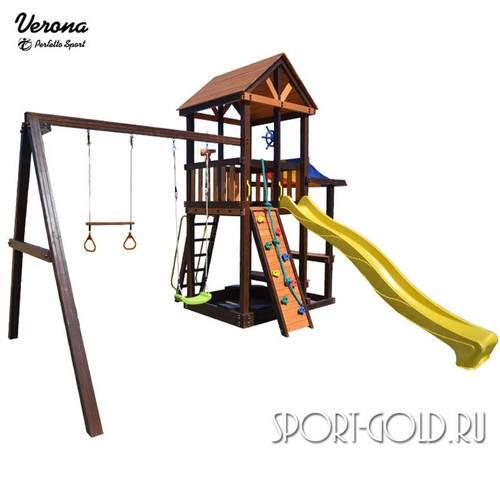 Детский игровой комплекс Perfetto Sport Verona Кольца с трапецией