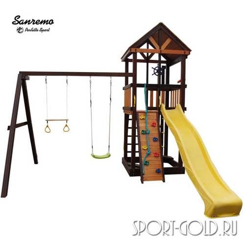 Детский игровой комплекс Perfetto Sport Sanremo Кольца с трапецией