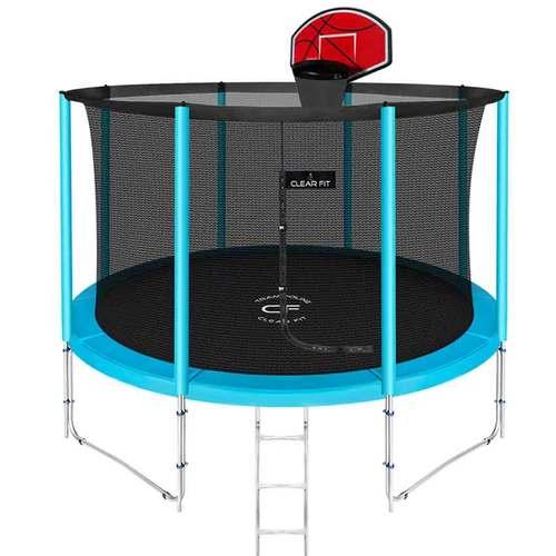 Батут Clear Fit ElastiqueStrong 12ft (3,66 м) С баскетбольным щитом