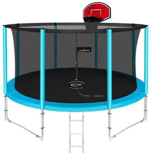 Батут Clear Fit ElastiqueStrong 14ft (4,27 м) С баскетбольным щитом