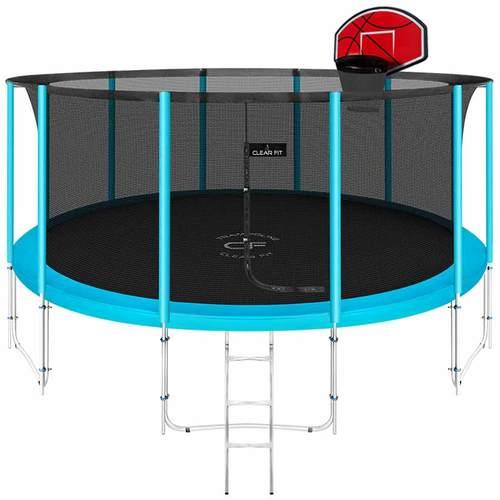 Батут Clear Fit ElastiqueStrong 16ft (4,88 м) С баскетбольным щитом