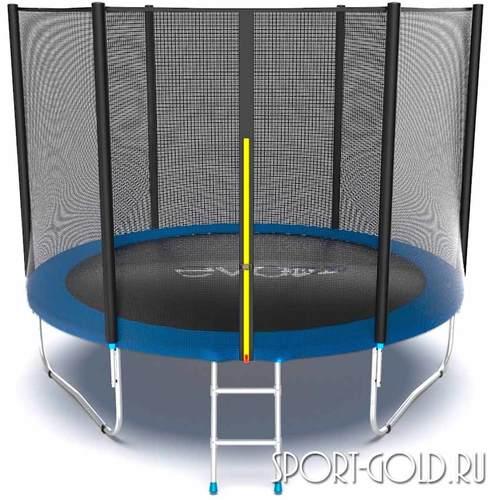Батут EVO Jump External 10ft (3.05м) с сеткой и лестницей Синий, без нижней сетки