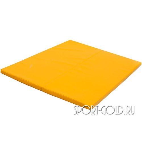 Спортивный мат Perfetto Sport №14, 123 х 100 х 4 см Желтый