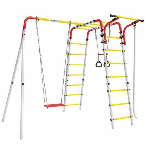 Детский спортивный комплекс для дачи ROMANA Веселая лужайка-2 Фанерные качели