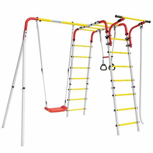 Детский спортивный комплекс для дачи ROMANA Веселая лужайка-2 Пластиковые качели