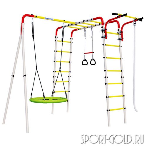 Детский спортивный комплекс для дачи ROMANA Веселая лужайка-2 Качели Гнездо