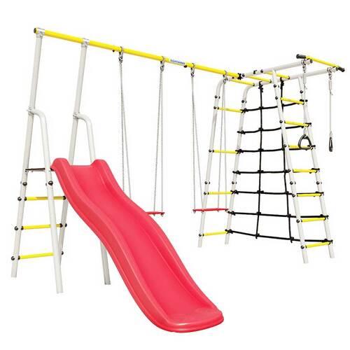 Детский спортивный комплекс для дачи ROMANA Богатырь Плюс - 2 NEW Фанерные качели
