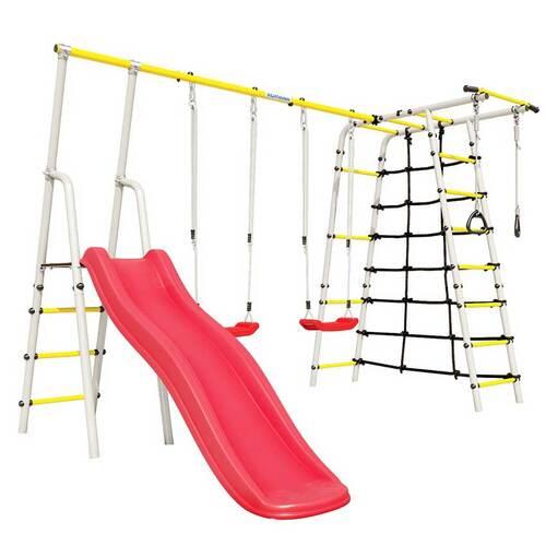 Детский спортивный комплекс для дачи ROMANA Богатырь Плюс - 2 NEW Пластиковые качели