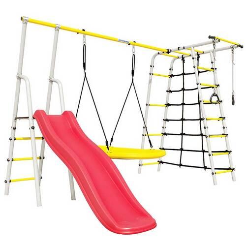 Детский спортивный комплекс для дачи ROMANA Богатырь Плюс - 2 NEW Качели Лодка