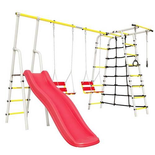 Детский спортивный комплекс для дачи ROMANA Богатырь Плюс - 2 NEW Цепные качели