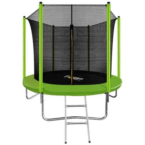 Батут ARLAND 8ft с внутренней сеткой и лестницей Light Green - зеленый