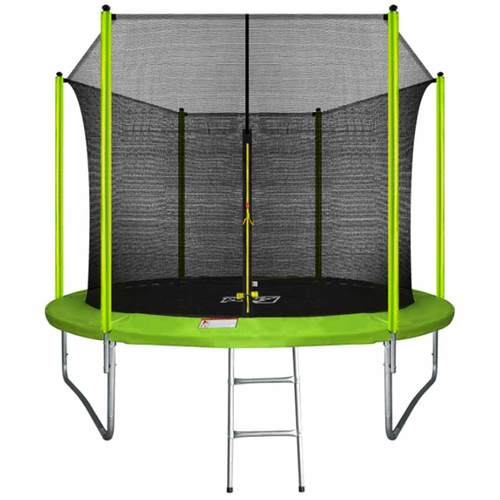Батут ARLAND 10ft с внутренней сеткой и лестницей Light Green - зеленый