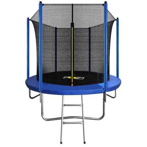 Батут ARLAND 8ft с внутренней сеткой и лестницей Blue - синий