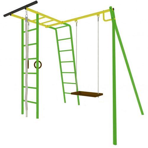 Детский спортивный комплекс для дачи КАЧАЙ УДСК Тарзан Мини (Усиленный) Зеленый