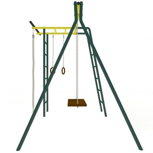 Детский спортивный комплекс для дачи КАЧАЙ УДСК Тарзан Мини (Усиленный) Зеленый мох