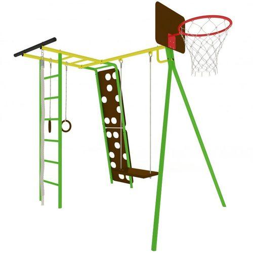 Детский спортивный комплекс для дачи КАЧАЙ Тарзан Мини - 2 (Усиленный) Зеленый