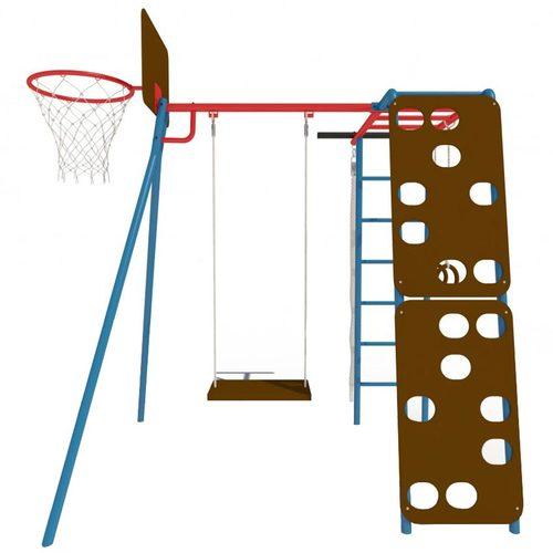 Детский спортивный комплекс для дачи КАЧАЙ Тарзан Мини - 2 (Усиленный) Синий