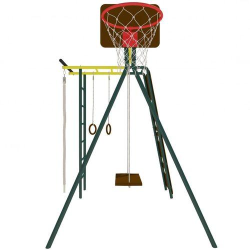 Детский спортивный комплекс для дачи КАЧАЙ Тарзан Мини - 2 (Усиленный) Зеленый мох